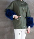 Utility Feather Cuff Jacket Details