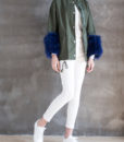 Utility Feather Cuff Jacket Front Side