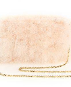Cream Beige feather bag