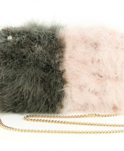 Double color fluffy bag