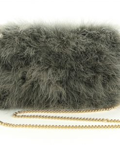 Dusty Green Feather bag
